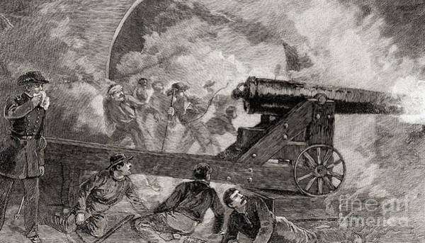 A Casemate During The Bombardment At The Battle Of Fort Sumter, 1861 Art Print