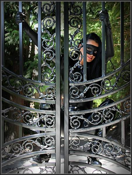 Photograph - A Cat Woman At The Gates by Jon Volden