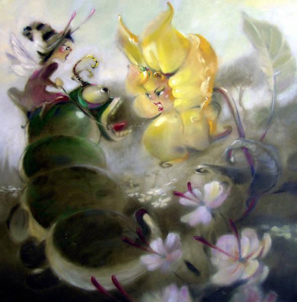 Wall Art - Painting - A Caterpillar Ride by Patrick McClintock
