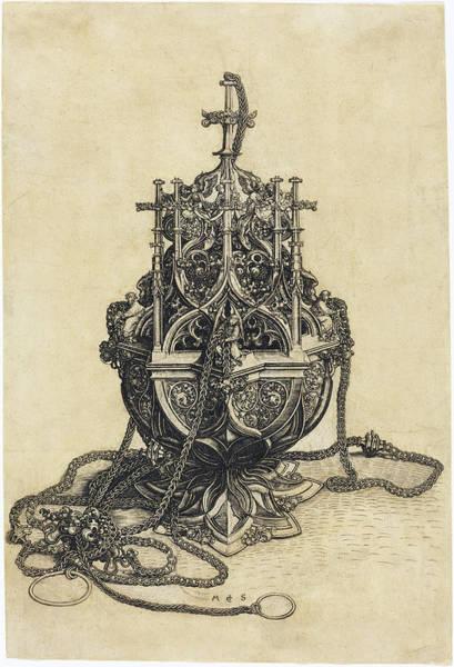 Drawing - A Censer by Martin Schongauer