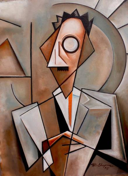 Toomer Wall Art - Painting - A Certain Man / Jean Toomer by Martel Chapman