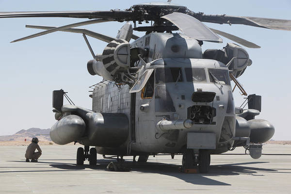 Javelin Photograph - A Ch-53 Sea Stallion Helicopter by Stocktrek Images