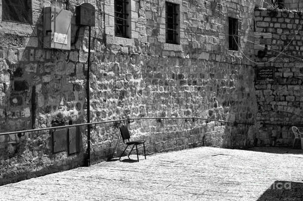 Wall Art - Photograph - A Chair In Jerusalem by John Rizzuto