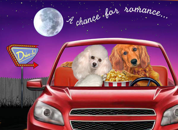 Golden Retriever Digital Art - A Chance For Romance by Glenn Holbrook