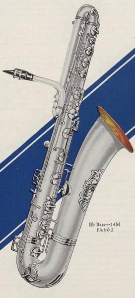 Sax Painting - A Charles Gerard Conn Bb Bass by American School