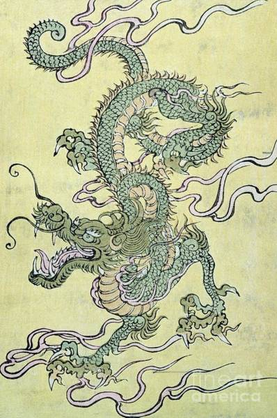 Deities Painting - A Chinese Dragon by Chinese School