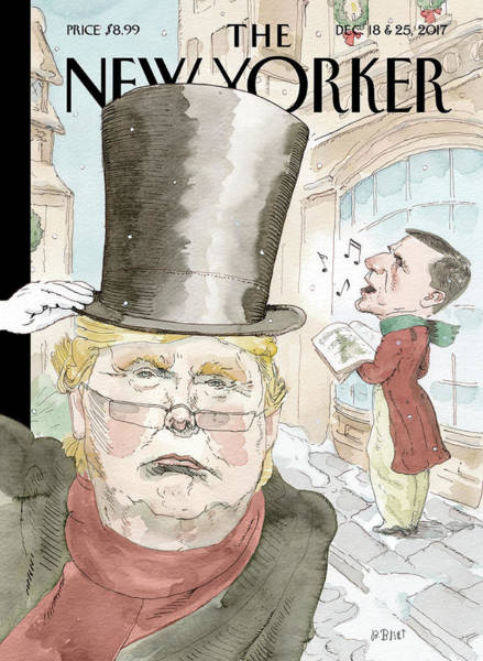 Christmas Drawing - A Christmas Carol by Barry Blitt
