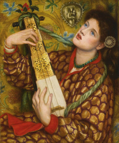 Painting - A Christmas Carol by Dante Gabriel Rossetti