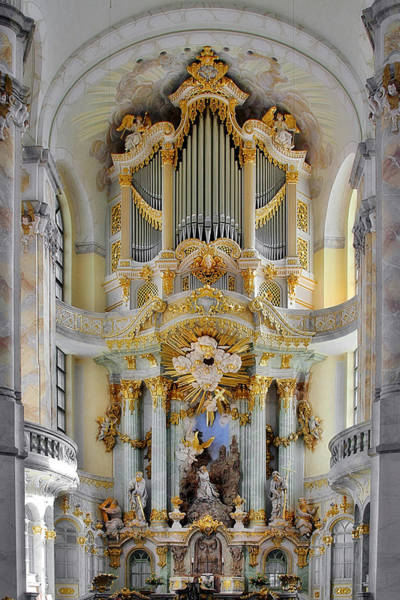 Protestant Photograph - A Church Filled With Music - Church Of Our Lady Dresden by Christine Till