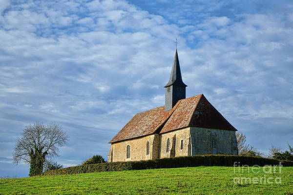 Steeple Wall Art - Photograph - A Church In France by Olivier Le Queinec