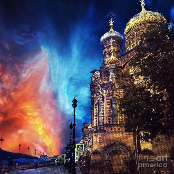 Moscow Mixed Media - A Church In Russia by Christine Mayfield
