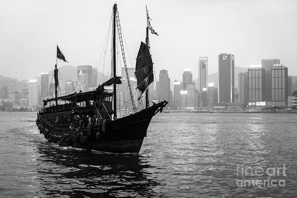 Photograph - A Classic View Of The Victoria Harbour With A Traditional Chines by Didier Marti