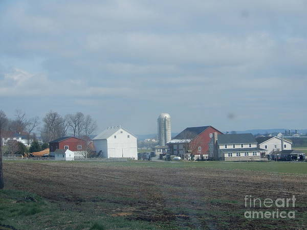 Photograph - A Clear April Sky Over An Amish Farm by Christine Clark