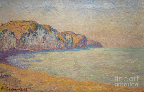 Painting - A Cliff At Pourville In The Morning by Claude Monet