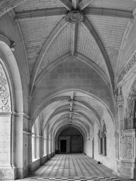 Fontevraud Photograph - A Cloister View by Dave Mills