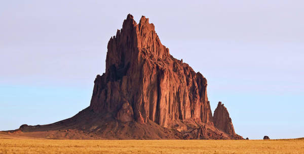 Wall Art - Photograph - A Close Up Of Shiprock In New Mexico by Derrick Neill