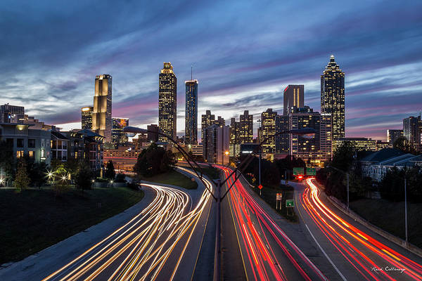 Wall Art - Photograph - A Closer View Atlanta Nite Lights 9 Atlanta Sunset Cityscape Art by Reid Callaway