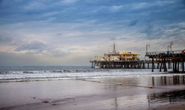 Photograph - A Cloudy Morning At The Pier by Gene Parks