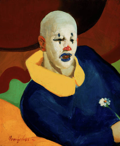 Circus Clown Painting - A Clown by George Benjamin Luks