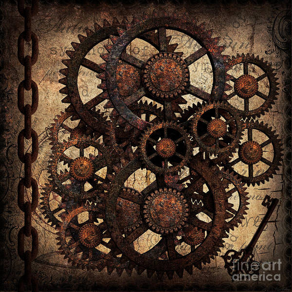 Digital Art - A Cog In The Machine That Governs Us by Lita Kelley