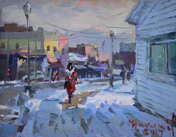 Tonawanda Wall Art - Painting - A Cold Afternoon In Tonawanda by Ylli Haruni