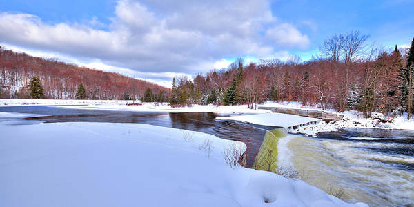 Photograph - A Cold Day At The Dam by David Patterson
