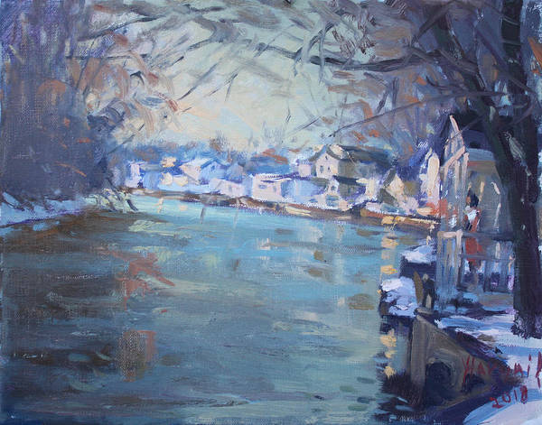 Wall Art - Painting - A Cold Late Afternoon by Ylli Haruni