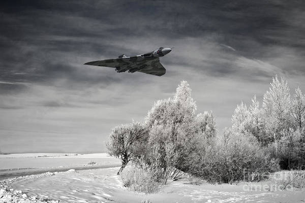 Avro Vulcan Wall Art - Digital Art - A Cold Winter by J Biggadike