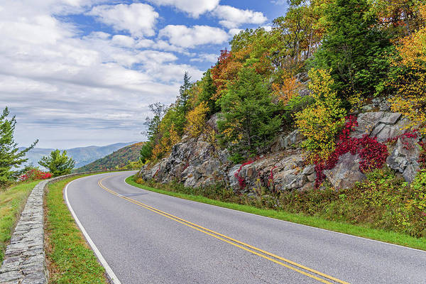 Photograph - A Colorful Curve On Skyline Drive by Lori Coleman