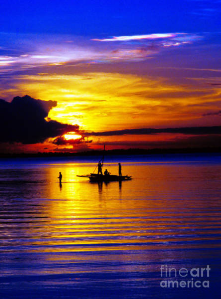 Photograph - A Colorful Golden Fishermen Sunset Vertical Print by James BO Insogna