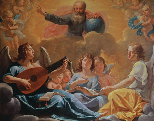 Wall Art - Painting - A Concert Of Angels by Philippe de Champaigne