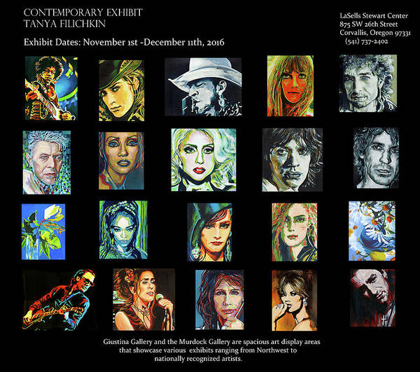 Painting - A Contemporary Art Exhibit  by Tanya Filichkin