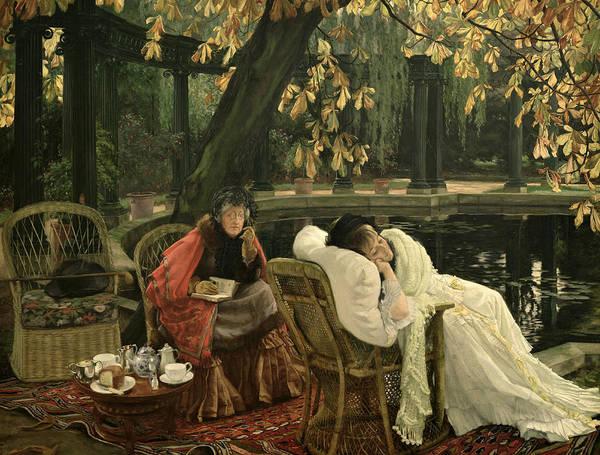 Elderly Painting - A Convalescent by James Jacques Joseph Tissot
