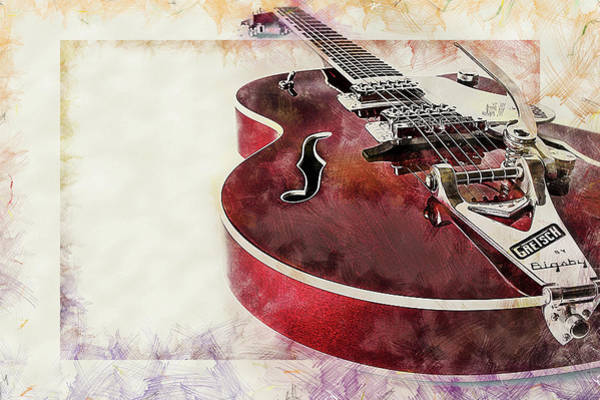 Digital Art - A Cool Guitar by Anthony Murphy