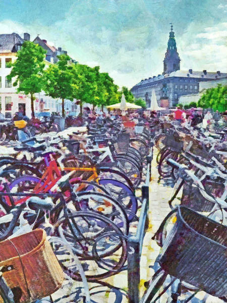 Digital Art - A Copenhagen Parking Lot by Digital Photographic Arts