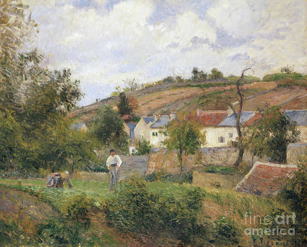 Wall Art - Painting - A Corner Of Le Hermitage, Pontoise, 1878 by Camille Pissarro