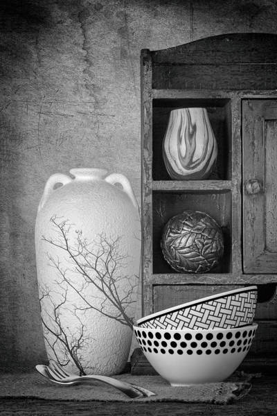 Shelves Photograph - A Corner Of The Kitchen by Tom Mc Nemar