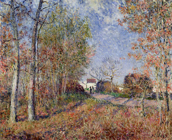Corner Painting - A Corner Of The Woods At Sablons by Alfred Sisley