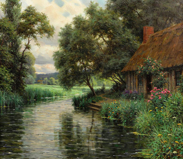 Knight Painting - A Cottage In The Risle Valley, Normand by Louis Aston Knight