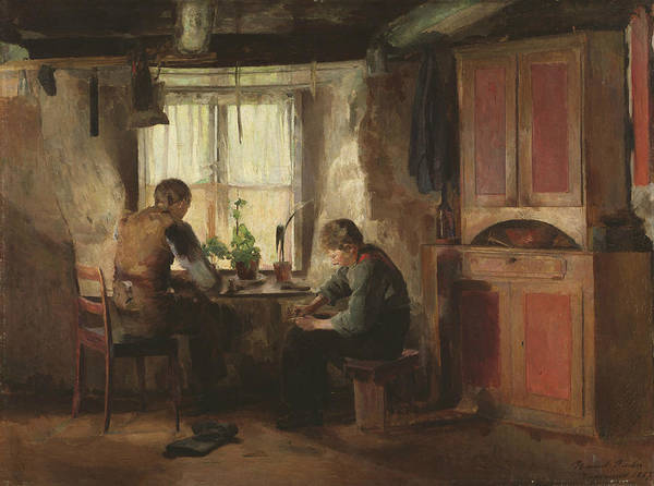 Painting - A Country Cobbler by Harriet Backer