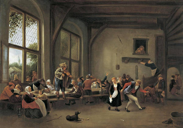 Country Wedding Painting - A Country Wedding by Jan Steen