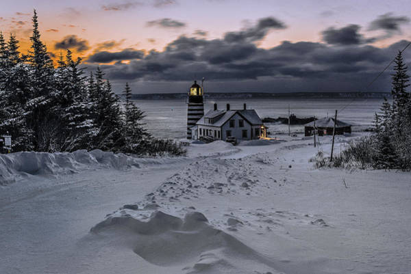 Wall Art - Photograph - A Crisp Winter Morning At West Quoddy Head Lighthouse by Marty Saccone