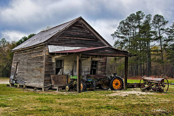 Photograph - A Crooked Little Barn by Christopher Holmes