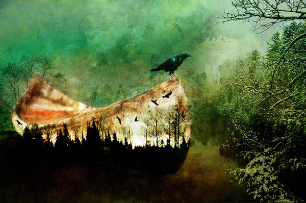 Painting - A Crow Wiinter by Christina VanGinkel