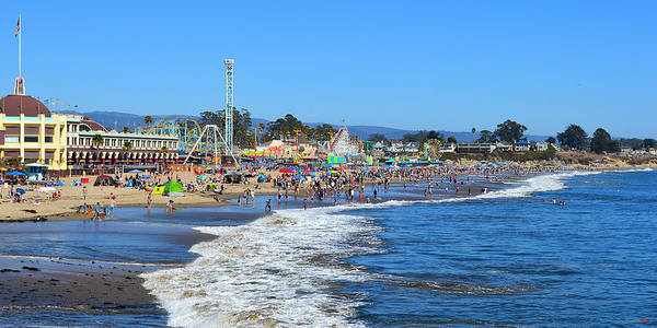 Photograph - A Crowded Beach In Santa Cruz by Glenn McCarthy Art and Photography