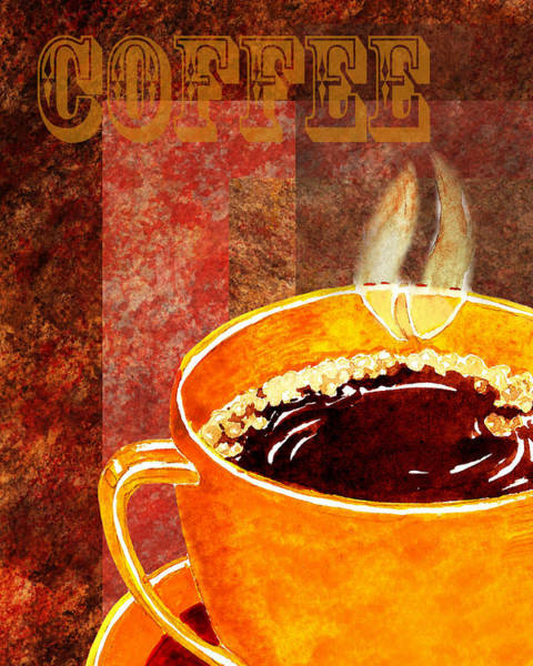 South Of France Wall Art - Painting - A Cup Of Coffee by Irina Sztukowski