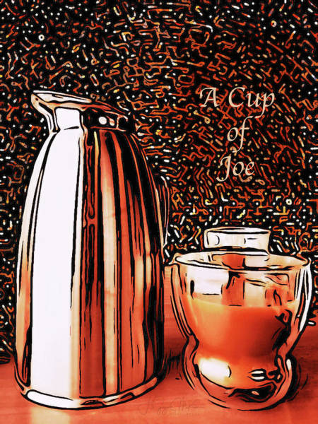 Digital Art - A Cup Of Joe by Jo-Anne Gazo-McKim