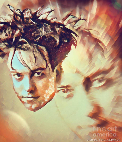 Disintegration Digital Art - A Cure For Everyone - Robert Smith by Robert Radmore