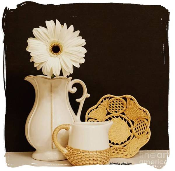 Wall Art - Photograph - A Daisy And A Basket by Marsha Heiken