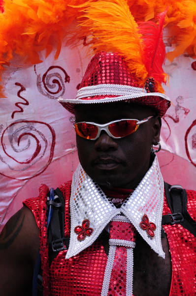 Wall Art - Photograph - A Dancer At The Notting Hill Carnival In London by Liz Pinchen